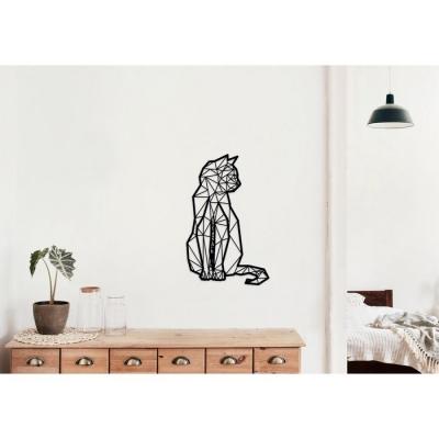 Lasergesneden kat in Geometrische stijl.