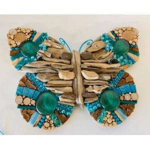 DIY kit driftwood mozaiek vlinder