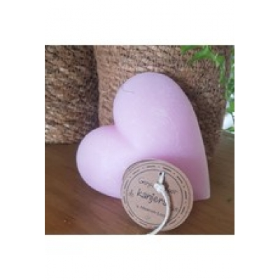 Hart kaars,roze sheerenloo