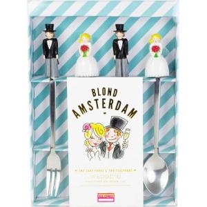 Blond Amsterdam Specials Vorkjes&Theelepels - Wedding - 4 Stuks