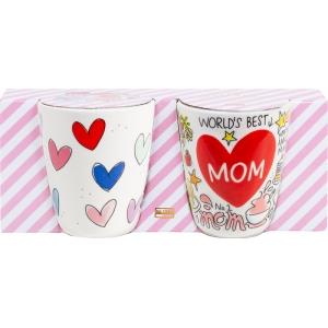 Blond Amsterdam mok Mom heart 2-delig