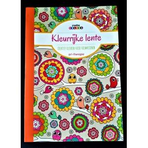 Kleurboek kleurrijke lente