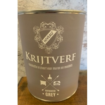 Niveau krijtverf authentic grey 1 liter
