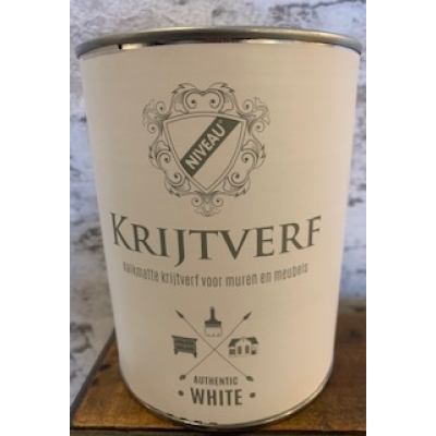 Niveau krijtverf authentic white 1 liter