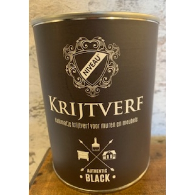 Niveau krijtverf authentic black 1 liter
