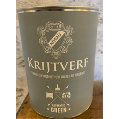 Niveau krijtverf authentic green 1 liter