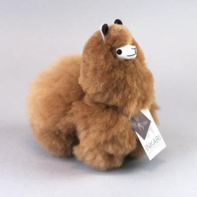 Inkari Alpaca knuffel Hazelnoot S