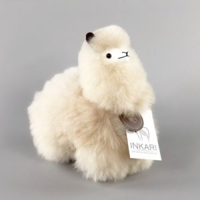 Inkari Alpaca knuffel Blond S