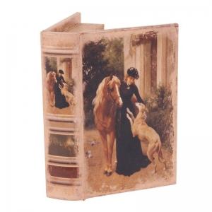 Dutch Style Boekdoosje dame met paard