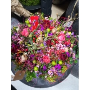 Bloementaart  rose, groot 24 cm