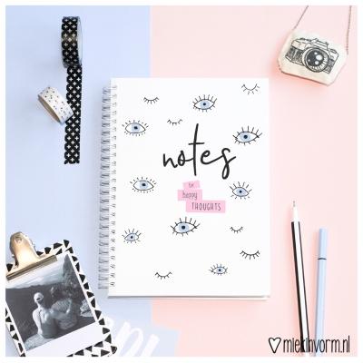 Notitieboek 'Happy Thoughts'