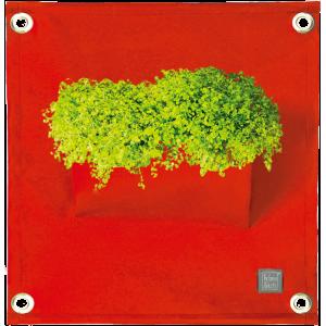 Green pockets, 100% acryl plantenzakken, rood