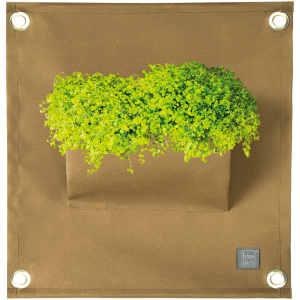 Green pockets, 100% acryl plantenzakken, beige