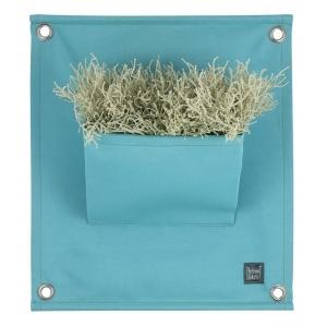 Green pockets, 100% acryl plantenzakken, turquoise
