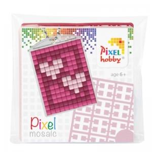 Sleutelhanger set Pixel hobby, hartjes