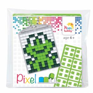 Sleutelhanger set Pixel hobby, kikker