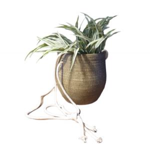 Gina Da – Hangpot – Keramiek – Antiek bruin