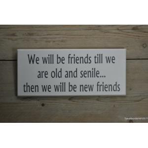 Tekstbord Friends