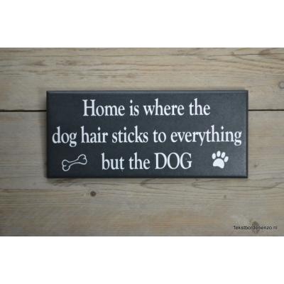 Tekstbord  Dog hair