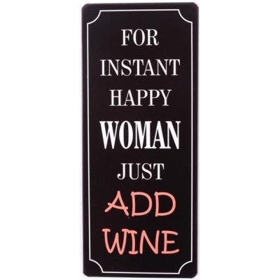 Tekstbord  Happy woman