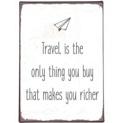 Tekstbord  Travel