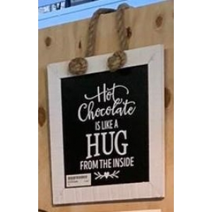 Tekstbord  hot chocolate