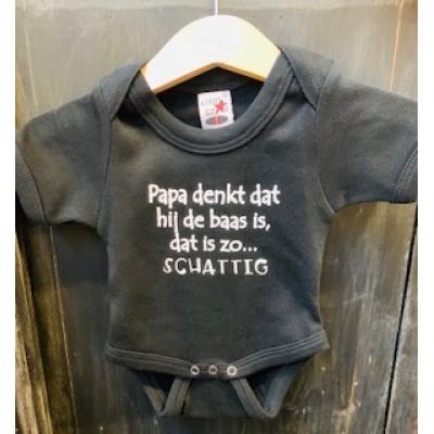 Baby rompertje ,zwart schattig mt 56