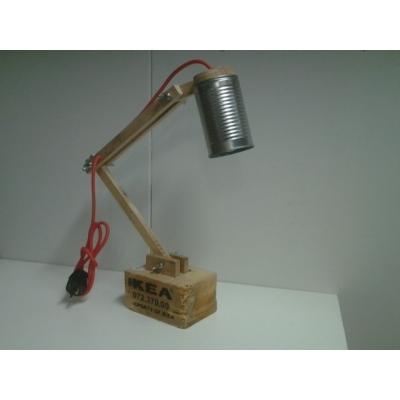 Bureaulamp pallet hout.