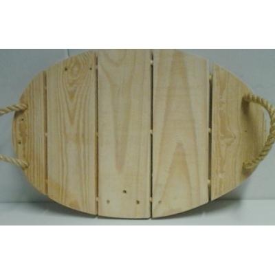 Dienblad eivormig pallethout