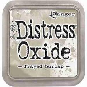distress oxide Frayed Burlapp