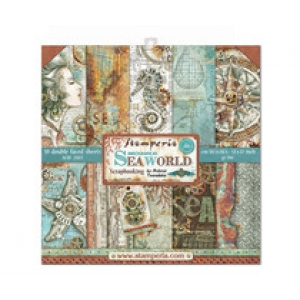 Stamperia 12x 12 inch paperpad Seaworld