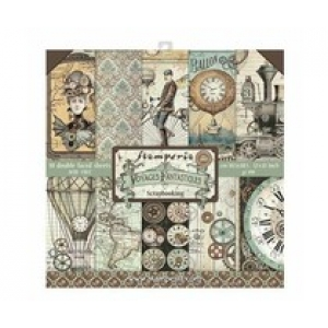 Stamperia 12x 12 inch paperpad Voyages Fantastic